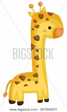 A Vector Of A Cute And Adorable Giraffe