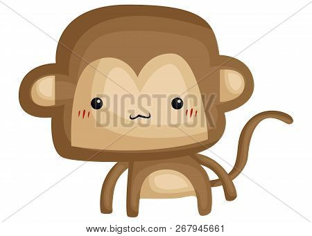 A Vector Of A Cute And Adorable Monkey