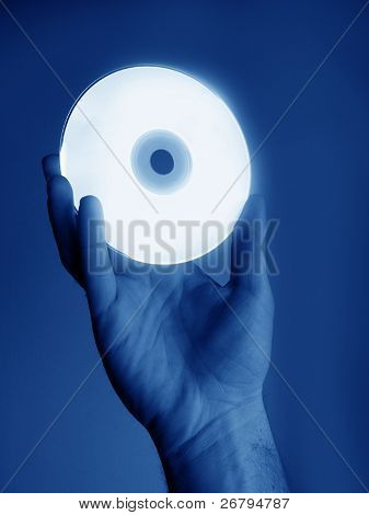 close up shot of a hand holding cd