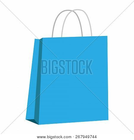 Paper Bag. Vector Of Packaging Bag. Gift Paper Bag With Empty Space For Logo.
