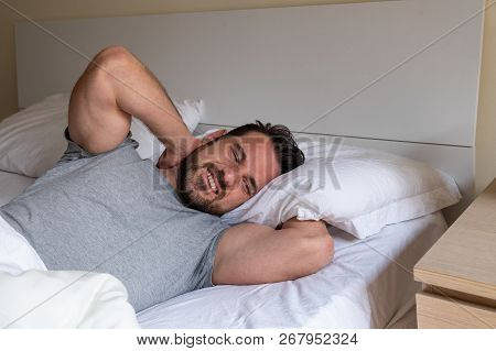 Man Waking Up In The Morning And Suffer For Neck Pain