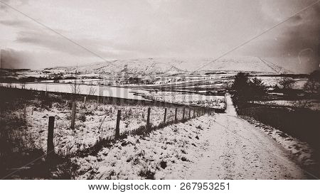 Pendle Hill, Lancashire - England. The Hill Is Famous For Its Links To Three Events Which Took Place