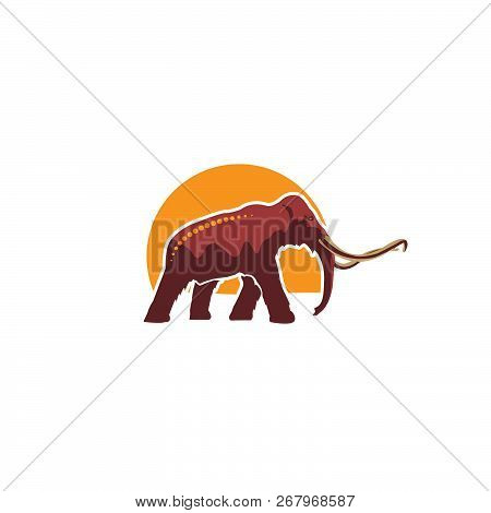 Baby Mammoth Icon In Illustrator Design Isolated On White Background. Dinosaurs And Prehistoric Symb