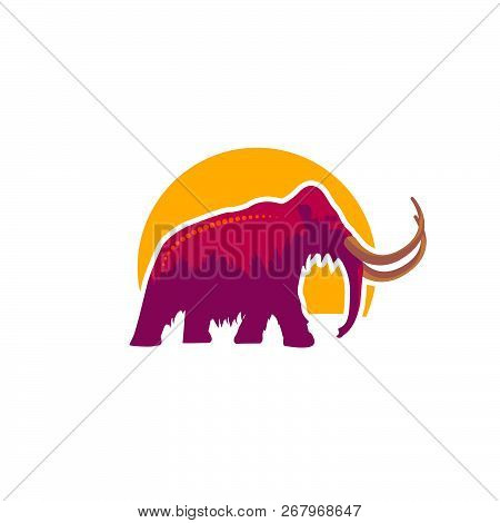 Mammoth Icon In Illustrator Design Isolated On White Background. Dinosaurs And Prehistoric Symbol St
