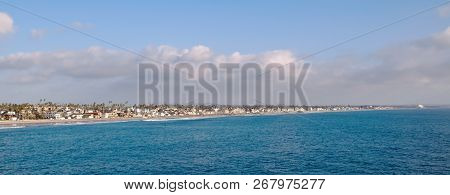 The Pacific Ocean And Coastline At Oceanside, California, Usa