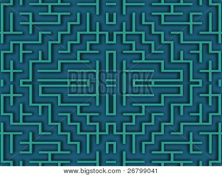 close up shot of a blue labyrinth