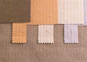Texture textile cotton samples prepared for fashion designer choice poster