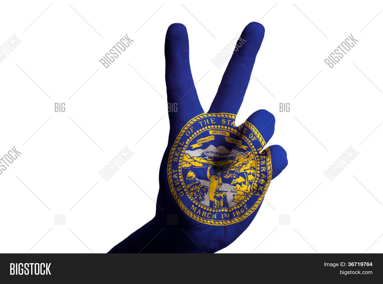 Nebraska Us State Flag Image Photo Free Trial Bigstock