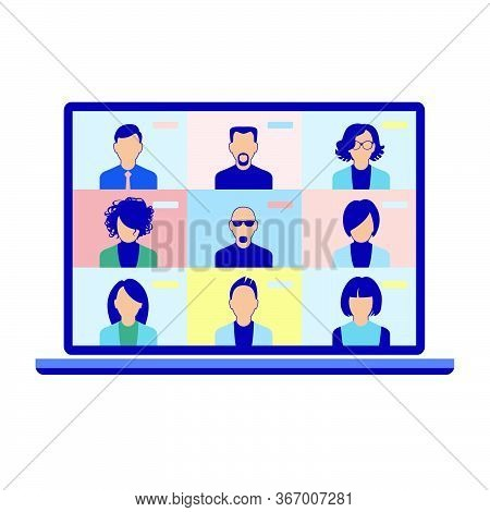 Chat With Friends Online. Collective Virtual Meeting