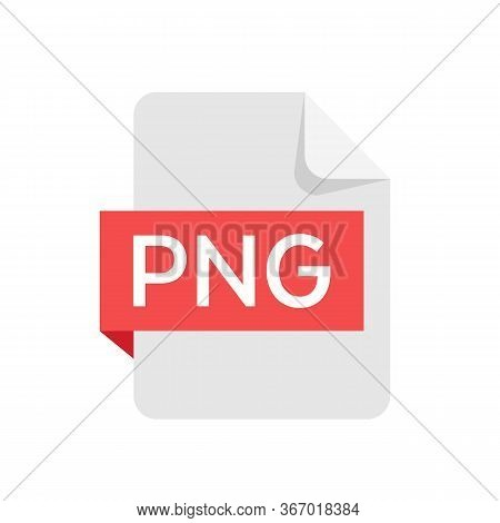 Png Format File Isolated On White Background. Png Icon. Vector Stock