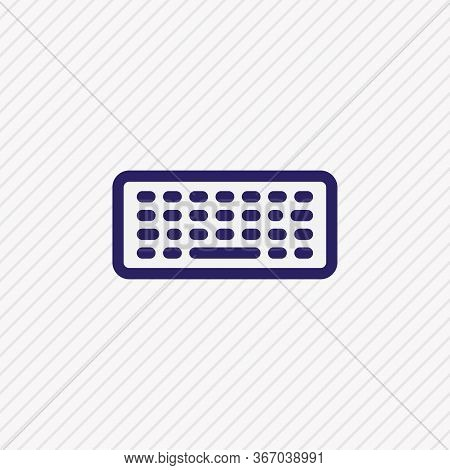 Vector Illustration Of Keyboard Icon Colored Line. Beautiful Media Element Also Can Be Used As Keypa