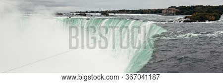 Niagara Falls panorama as the famous natural landscape in Canada
