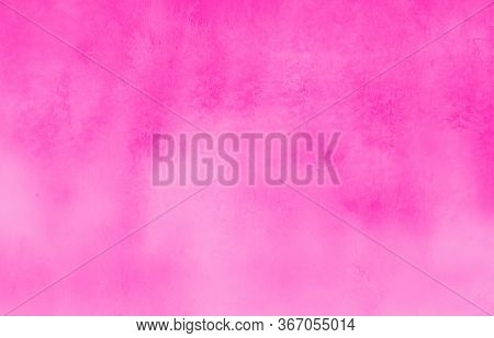 Abstract Magenta Stained Paper Texture Background Or Backdrop. Empty Cyan Blue Paperboard Or Grainy