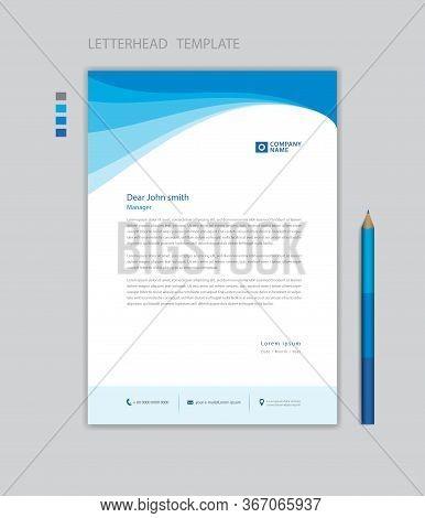 Creative Letterhead Template Vector, Minimalist Style, Printing Design, Business Advertisement Layou
