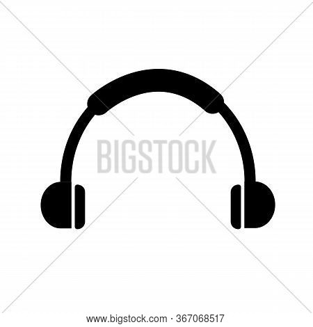Headphone Icon On White Background. Flat Style. Headphone Headset Icon For Your Web Site Design, Log