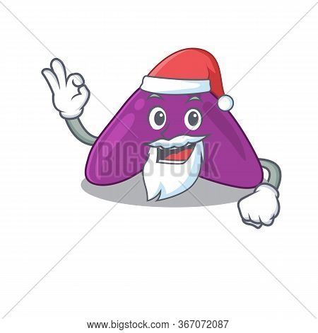 Cartoon Character Of Adrenal Santa Having Cute Ok Finger