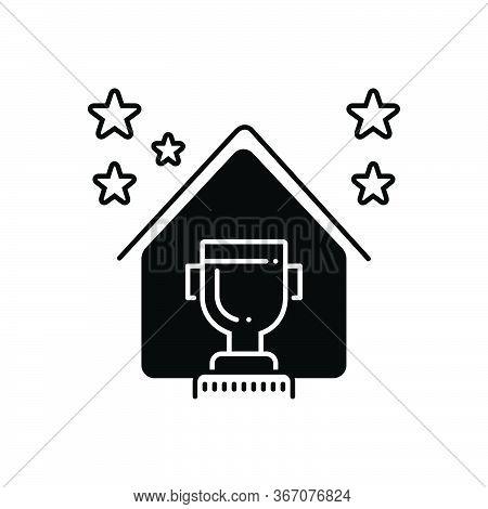 Black Solid Icon For Real Estate Award Real-estate-award  Prize Regalia Property