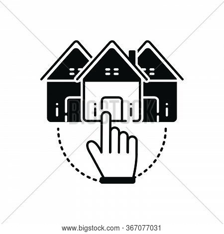 Black Solid Icon For Choose-home Choose Home Opportunity Select Property Real-estate