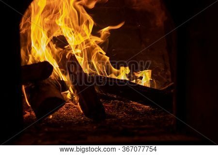 View Of Flame Produced By A Campfire