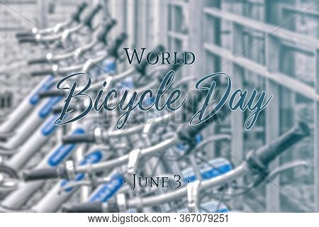 Bicycle Handlebar. Outdoor Bicycles. Related To The International Bicycle Day. 3 Of June. Close Bicy