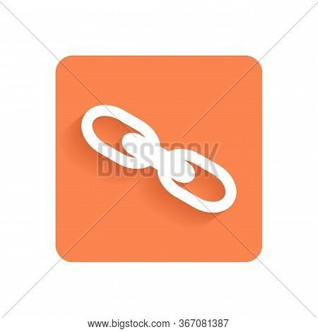 Link. Flat Icon, Object Isolated On White Background. Illustration For Design.