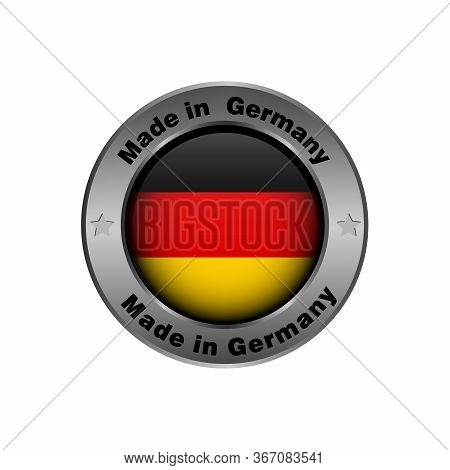 Made In Germany, Tag. Vector Design Isolated On White Background. Made In Germany, Marketing Label.