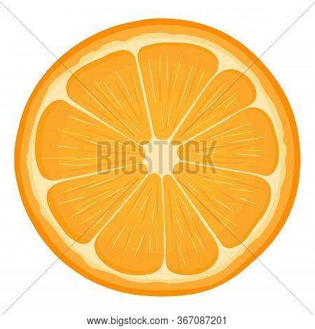 Fresh Bright Exotic Half Tangerine Or Mandarin Isolated On White Background. Summer Fruits For Healt