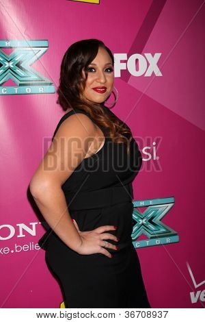 LOS ANGELES - SEP 11:  Melanie Amaro arrives at the FOX Season 2 Premiere of X-Factor at Graumans Chinese Theater on September 11, 2012 in Los Angeles, CA