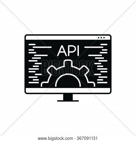 Black Solid Icon For Api Data  Api-technology Integration Technical