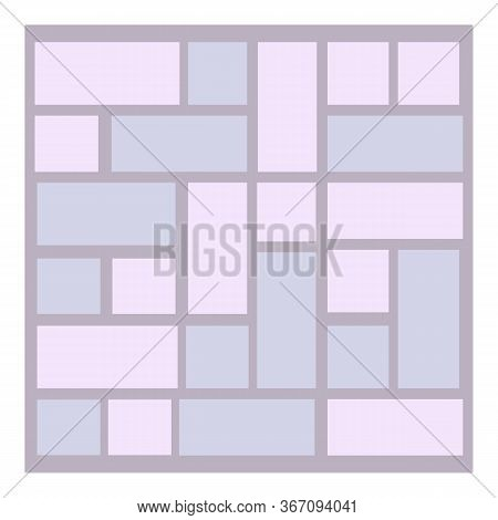 Decoration Paving Icon. Cartoon Of Decoration Paving Vector Icon For Web Design Isolated On White Ba