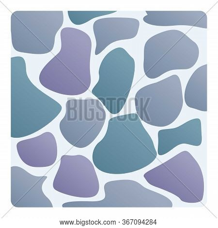 Material Stone Paving Icon. Cartoon Of Material Stone Paving Vector Icon For Web Design Isolated On