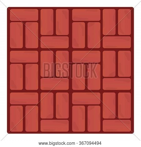 Brick Paving Icon. Cartoon Of Brick Paving Vector Icon For Web Design Isolated On White Background