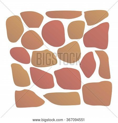 Stone Color Paving Icon. Cartoon Of Stone Color Paving Vector Icon For Web Design Isolated On White