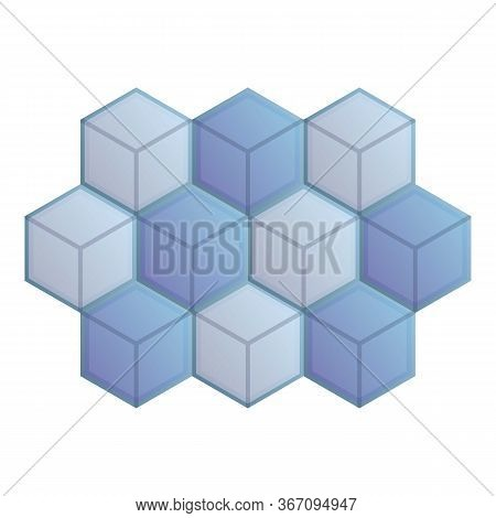 Mosaic Cube Paving Icon. Cartoon Of Mosaic Cube Paving Vector Icon For Web Design Isolated On White