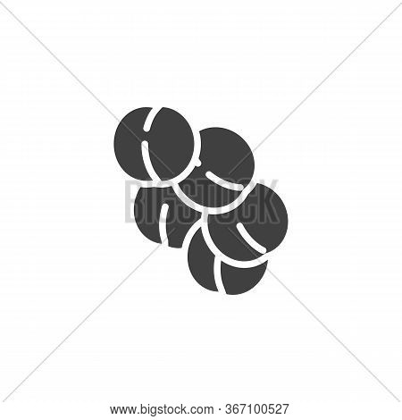 Staphylococcus Aureus Infection Vector Icon. Filled Flat Sign For Mobile Concept And Web Design. Vir