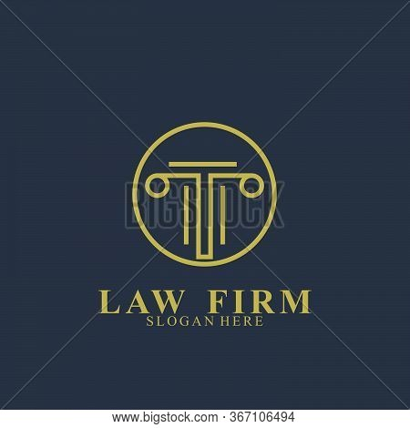 Law Firm Logo Design. Icon Law Firm Vector