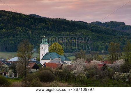Village Of Klastor Pod Znievom Village In Turiec Region, Slovakia.
