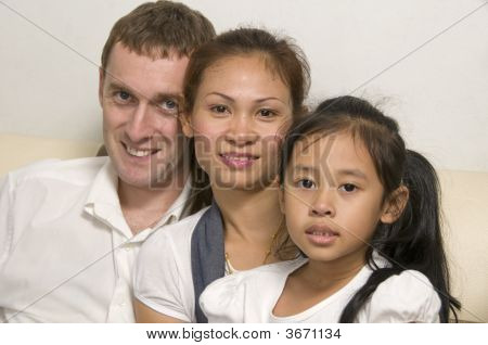 Young Family With Little Girl