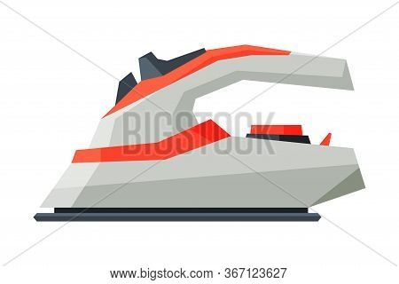 Wireless Iron, Electric Household Appliance, Ironing Clothes Device Vector Illustration