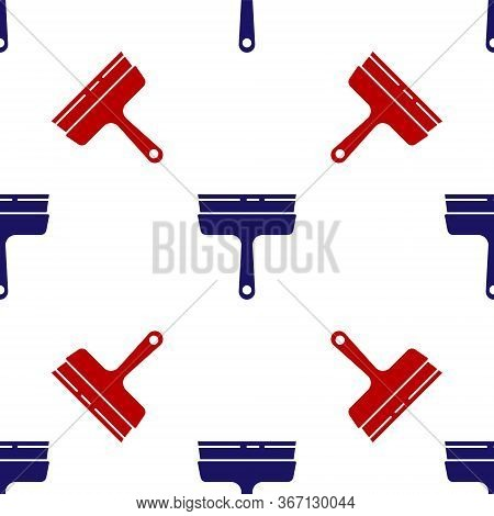 Blue And Red Cleaning Service With Of Rubber Cleaner For Windows Icon Isolated Seamless Pattern On W