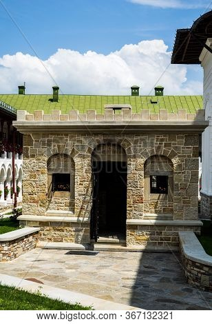 Neamt, Romania - June 31, 2019: Agapia Orthodox Monastery. Agapia Village.