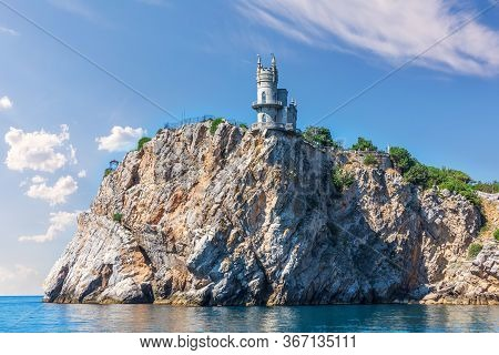 Swallows Nest Castle In Crimea, View From The Black Sea