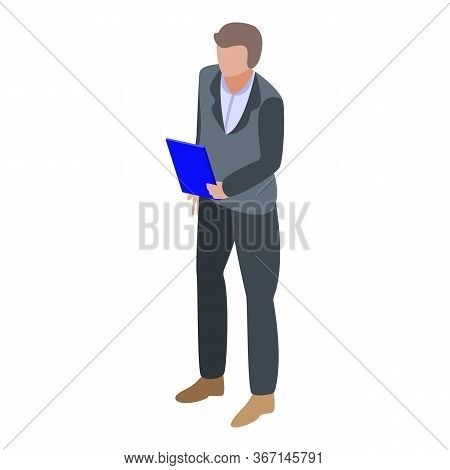Ecologist Man Icon. Isometric Of Ecologist Man Vector Icon For Web Design Isolated On White Backgrou