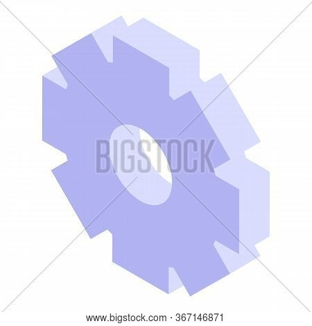 Process Mechanism Icon. Isometric Of Process Mechanism Vector Icon For Web Design Isolated On White