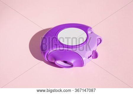 asthma inhaler medicine. medical treatment