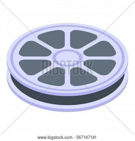 Movie Reel Icon. Isometric Of Movie Reel Vector Icon For Web Design Isolated On White Background
