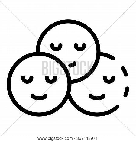 Happy Sociology Icon. Outline Happy Sociology Vector Icon For Web Design Isolated On White Backgroun