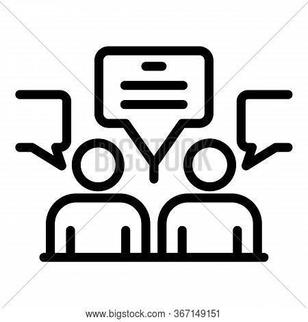 Sociology Chat Icon. Outline Sociology Chat Vector Icon For Web Design Isolated On White Background