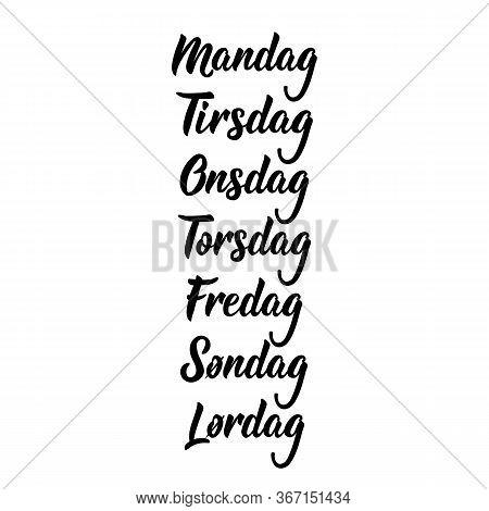 Translation From Norwegian - Monday, Tuesday, Wednesday, Thursday, Friday, Saturday, Sunday. Days Of