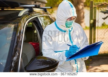 Employee as containment scout captures visitors by car from nursing home to visit list during coronavirus pandemic